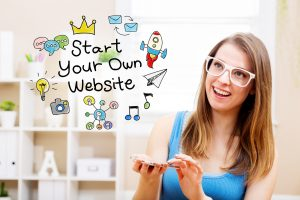 Start Your Own Website Concept