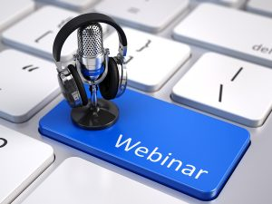 Webinar, Online Education and Training concept - Blue Webinar bu