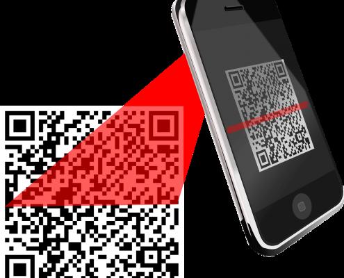 online business UK website QR code