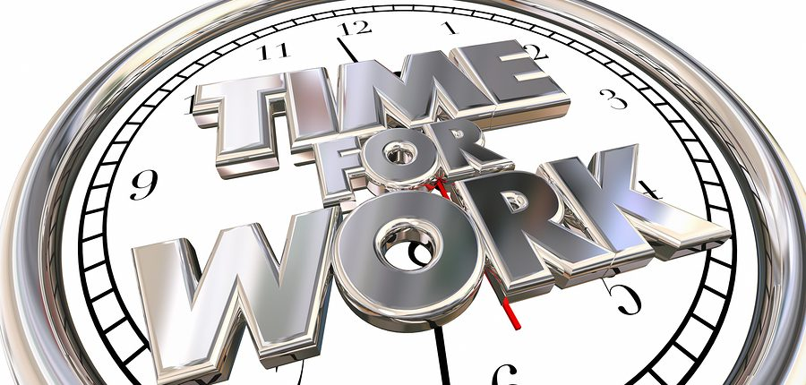 Time for Work Clock Job Career Task Project Pressure Stress Dead