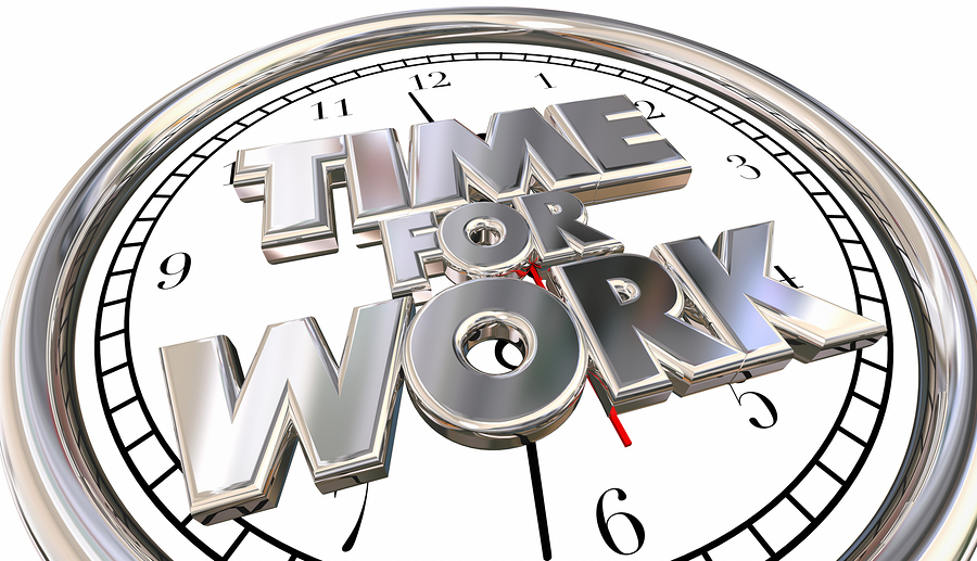 Time for Work Clock Job Career Task Project Pressure Stress Dead